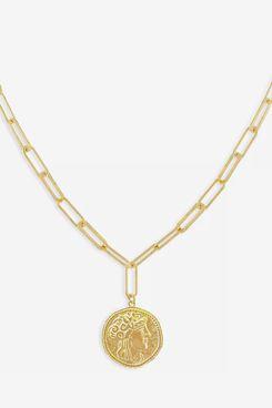 Adinas Jewels Vintage Coin Pendant Necklace