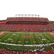 A general view of High Point Solutions Stadium, home of the Rutgers Scarlet Knights, on October 27, 2012 in Piscataway, New Jersey.