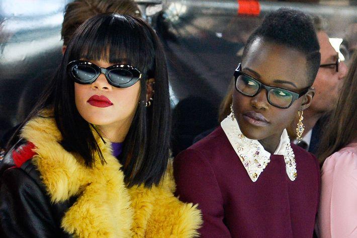 83bf7bd545 Rihanna and Lupita Nyong o. Photo  Getty Images