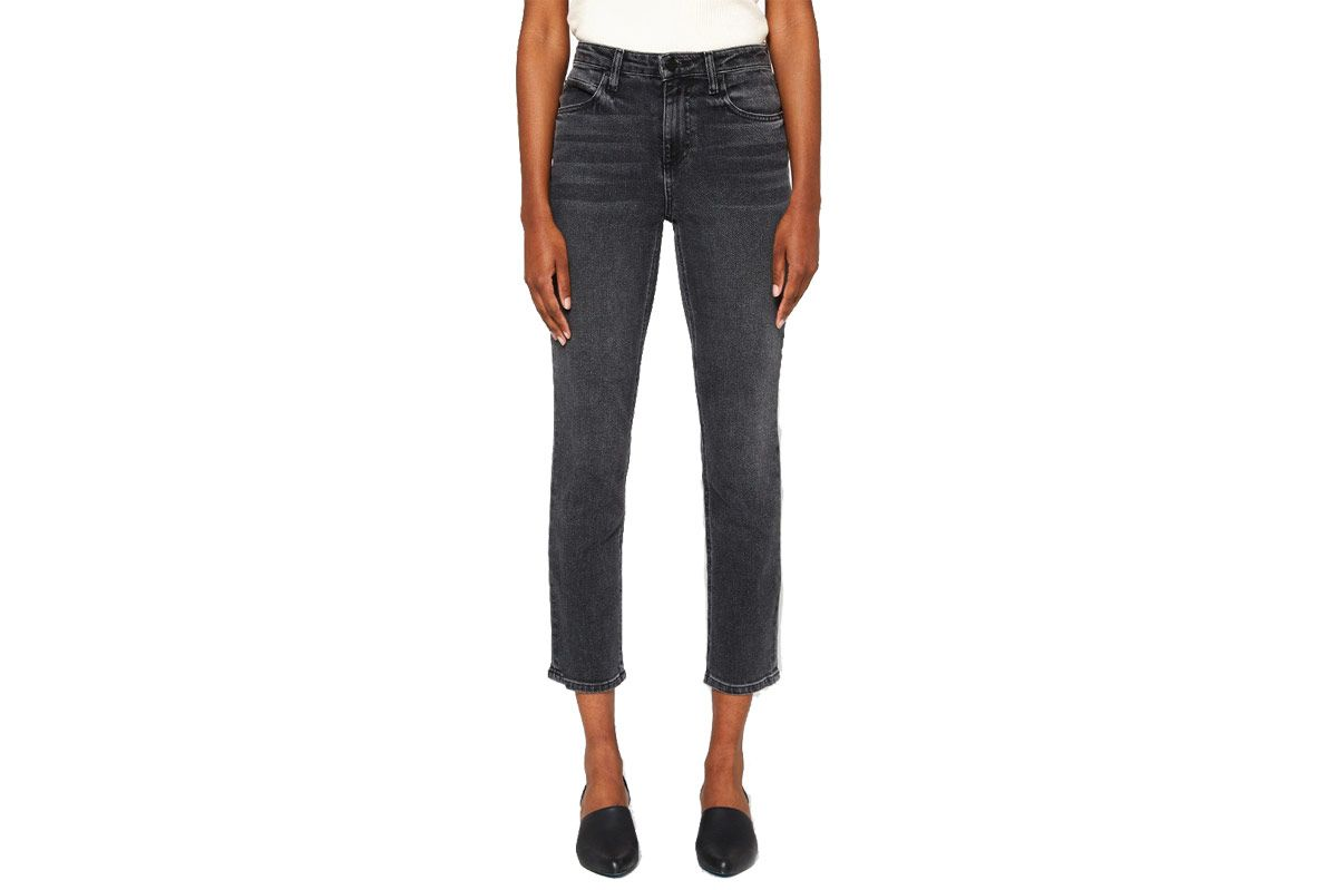 T by Alexander Wang High Rise Jeans in Grey Fade