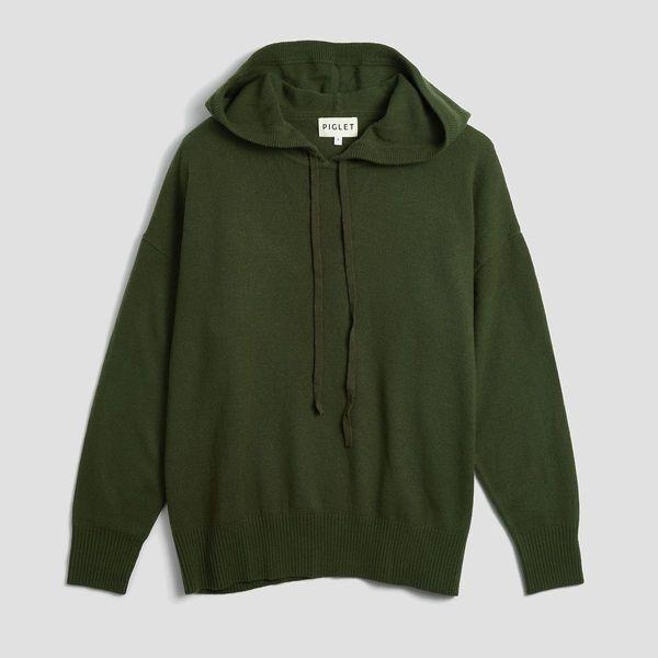 Piglet Bottle-Green Merino-Wool Loungers
