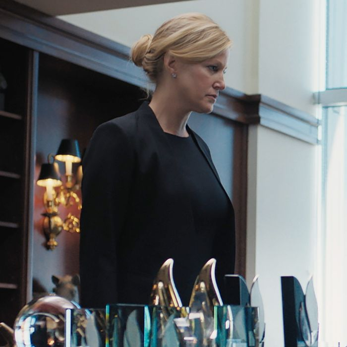 Naomi (Anna Gunn) fights for a promotion in <i>Equity</i>.