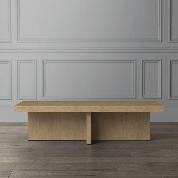 Oak Plank Rectangular Coffee Table