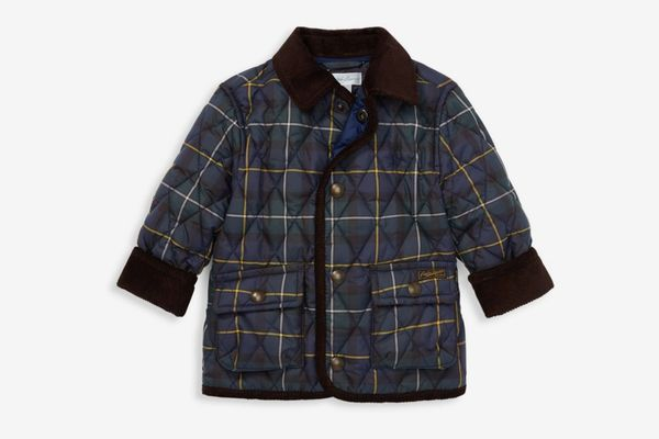 Ralph Lauren Baby Boy's Quilted Plaid Car Coat