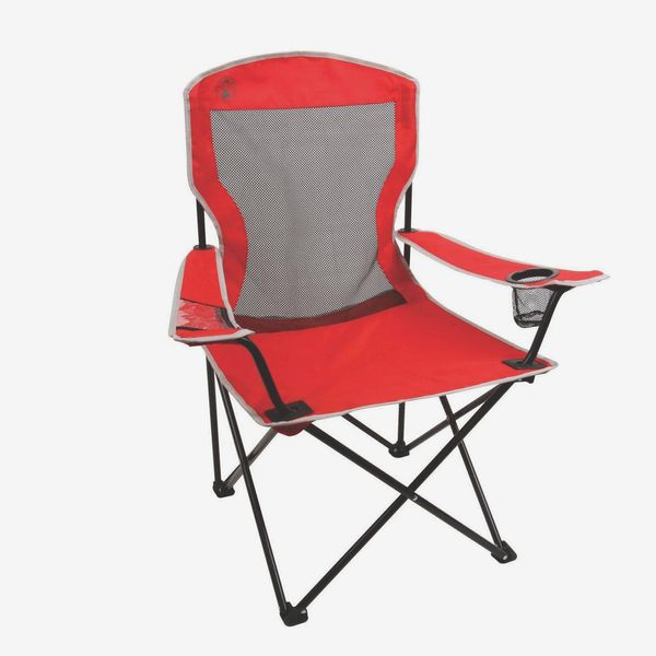 Coleman Cool Mesh Quad Chair, Red