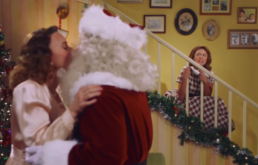 If You See Mommy Kissing Santa Claus, Get Out of There, Because They're Just Getting Started