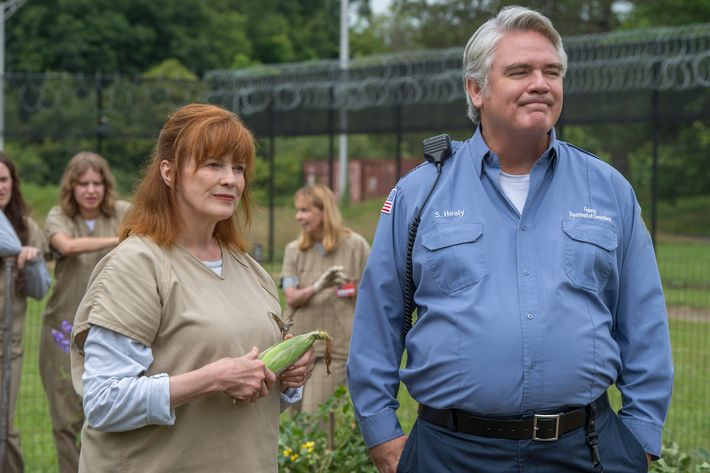 Blair Brown as Judy King, Michael Harney as Healy.