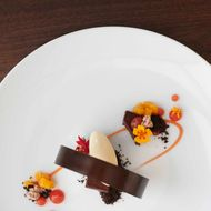 Punch's new chocolate torte with praline and burnt orange.