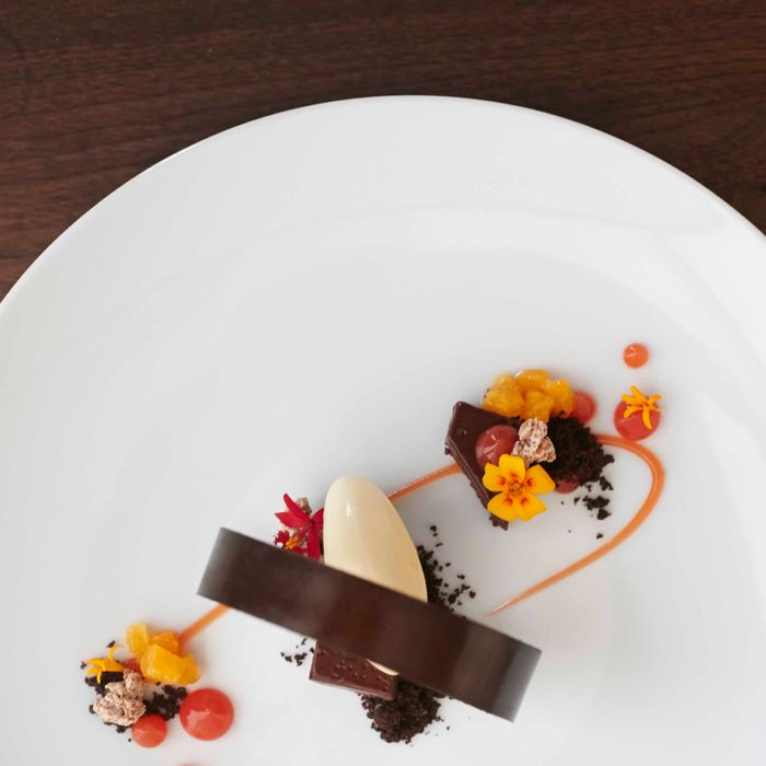 Punch's new chocolate torte with praline and burnt orange.