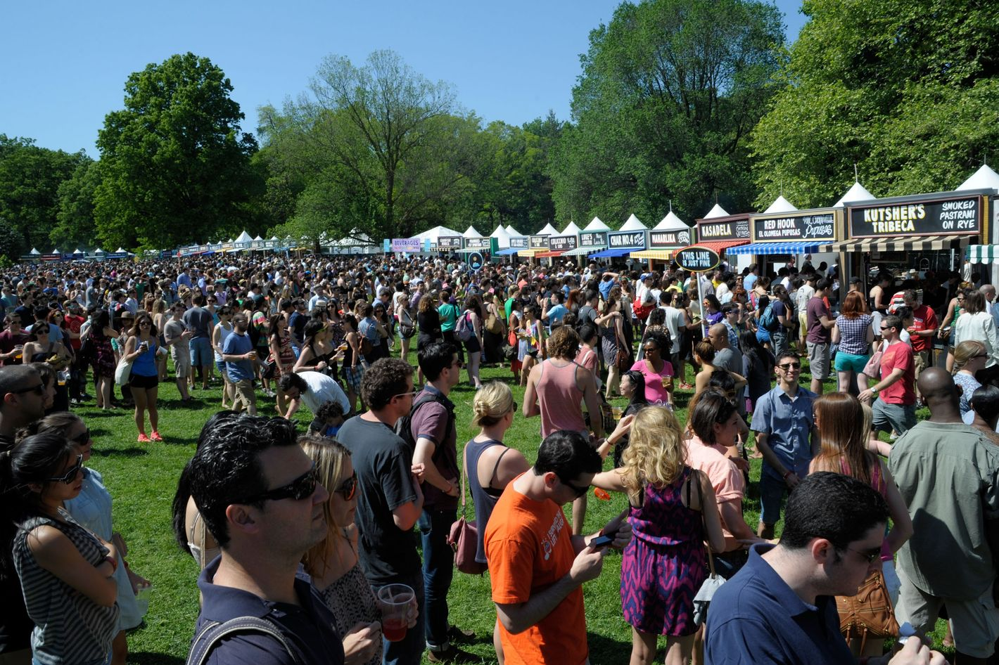 A general view of lines at the Great Googa Mooga 2012 at Prospect Park on May 19, 2012 in New York City.
