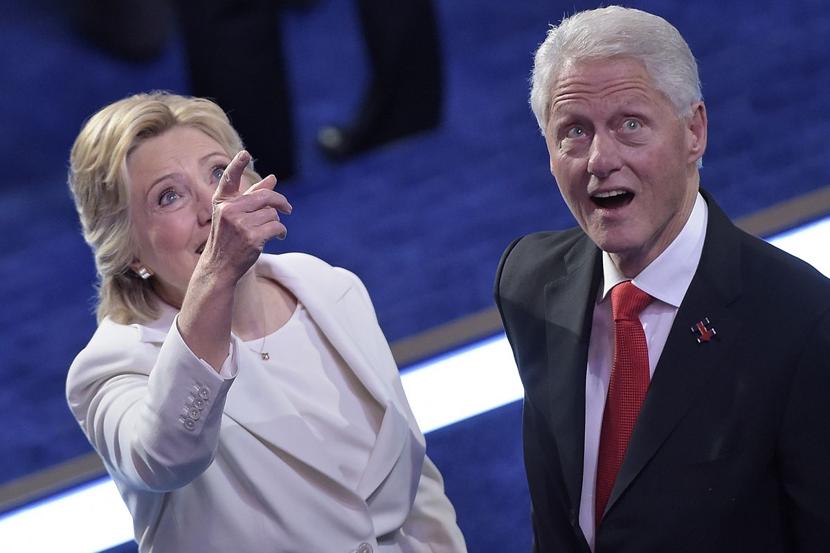 Hillary And Bill Clinton See Balloons Respond With Childlike Glee
