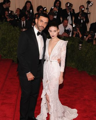 Riccardo Tisci and Rooney Mara.