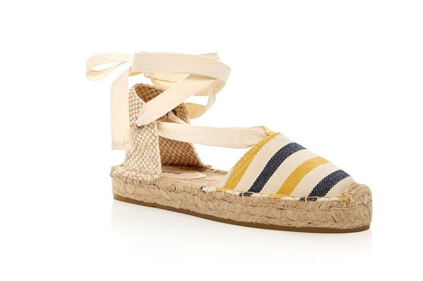 Soludos Striped Gladiator Platform Sandals
