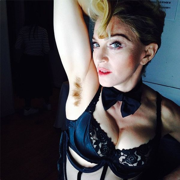 Gaby Hoffmann Bush Madonna shows off her