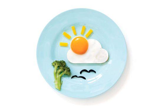 Runny eggs make it rain.