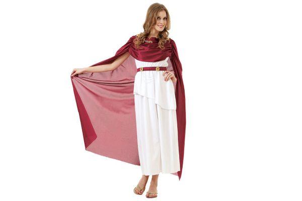 Roman Empress Women's Halloween Costume Olympic Queen Goddess Caesar Toga Dress