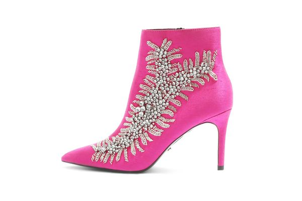Topshop Heavenly Embellished High Ankle Boots