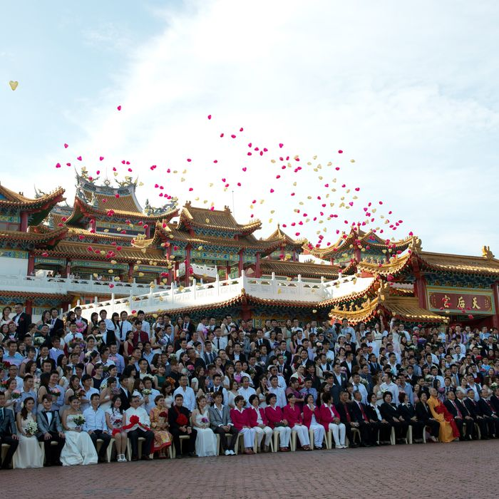 Mass wedding in Malaysia.