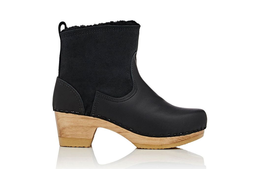 No. 6 Shearling & Leather Clog Boots