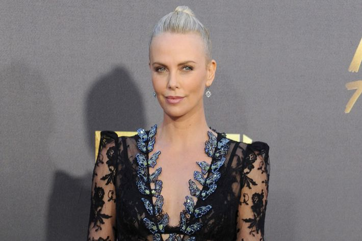 Charlise Theron in Alexander McQueen.