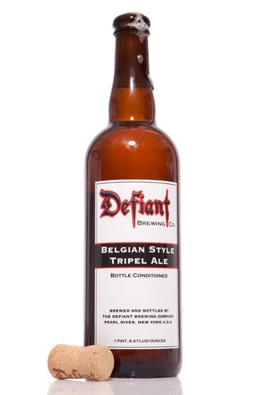 "Defiant Brewing Company (New York)<br>$9.99 for 25 oz. <br><strong>Type:</strong> Tripel<br><strong>Tasting notes:</strong> ""A fruity, earthy beer with a citrus aroma and lots of carbonation. It pairs well with grilled meats and fish."" <br>—Jeff Wallace, beer-team leader, Whole Foods Market: Bowery Beer Room<br>"