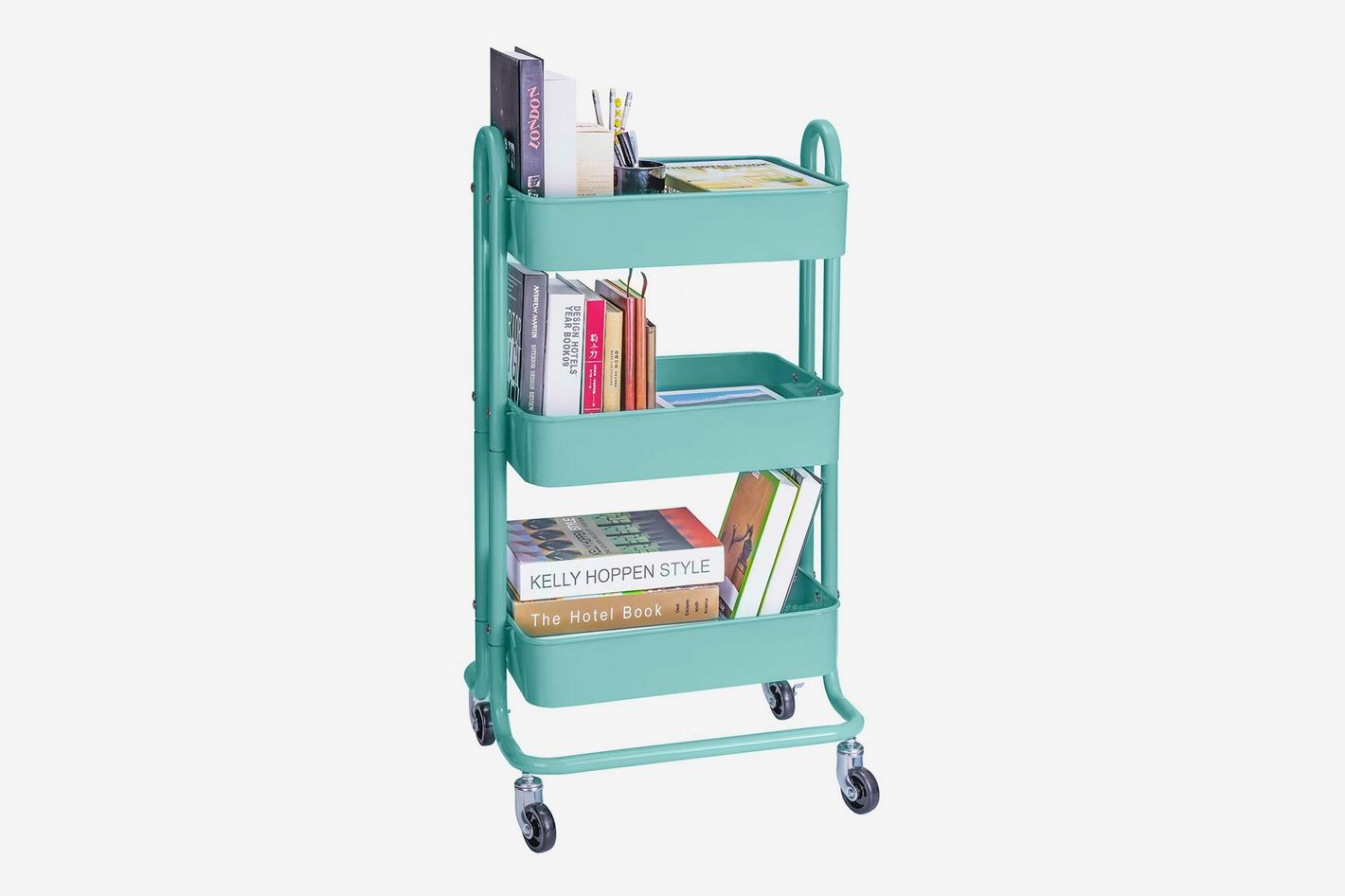 Melody House 3-Tier Rolling Metal Utility and Craft Cart