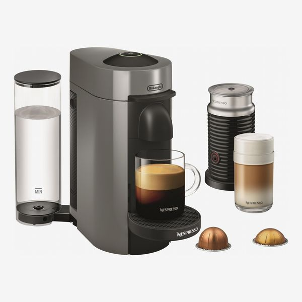 Nespresso VertuoPlus Coffee Maker and Espresso Machine with Aeroccino Milk Frother by DeLonghi