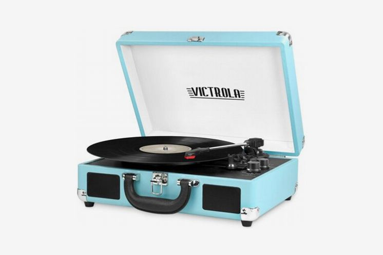 Victrola Bt Suitcase Record Player With 3 Speed Turntable
