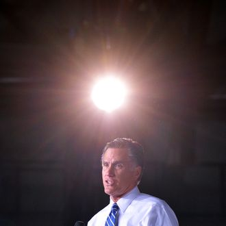 US Republican presidential candidate Mitt Romney speaks during a campaign rally at the Wings Over the Rockies Air and Space Museum in Denver, Colorado, on October 1, 2012.