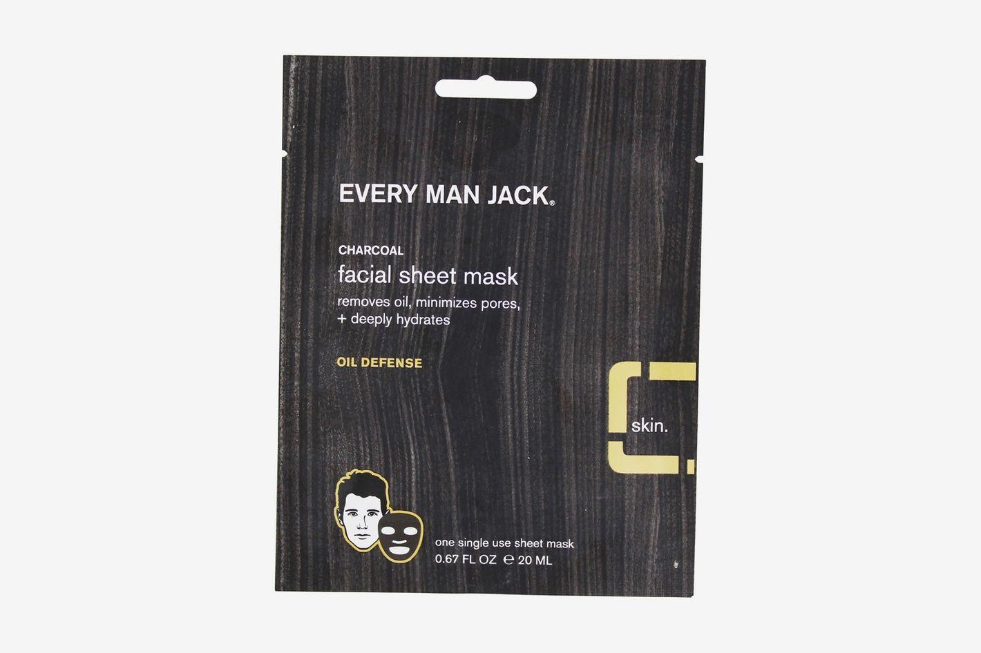 Every Man Jack Charcoal Facial Sheet Mask Oil Defense