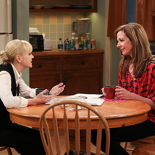 CBS\'s new comedy MOM stars Anna Faris (left) as Christy, a newly sober single mom raising two children in a world full of temptations and pitfalls, and Allison Janney (right) as her passive-aggressive, recovering alcoholic mother. MOM will premiere this Fall, Mondays (9:30-10:00 PM ET/PT) on the CBS Television Network. Photo: Monty Brinton/CBS ?'?? 2013 CBS Broadcasting, Inc. All Rights Reserved.