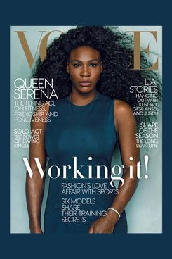 Serena Williams owning a <em>Vogue</em> cover.
