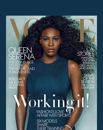 Serena Williams owning a <em>Vogue</em> cover.