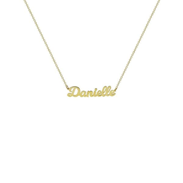 The M Jewelers Nameplate Necklace