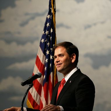 U.S. Sen. Marco Rubio, R-Fla., speaks during Iowa Gov. Terry Branstad's annual birthday fundraiser, Saturday, Nov. 17, 2012, in Altoona, Iowa.