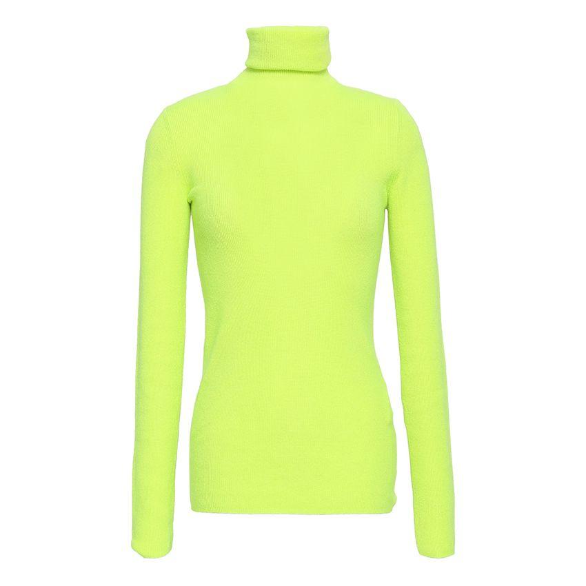 Christopher Kane Neon cashmere turtleneck sweater