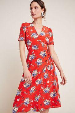 Yumi Kim Fiona Silk Wrap Dress