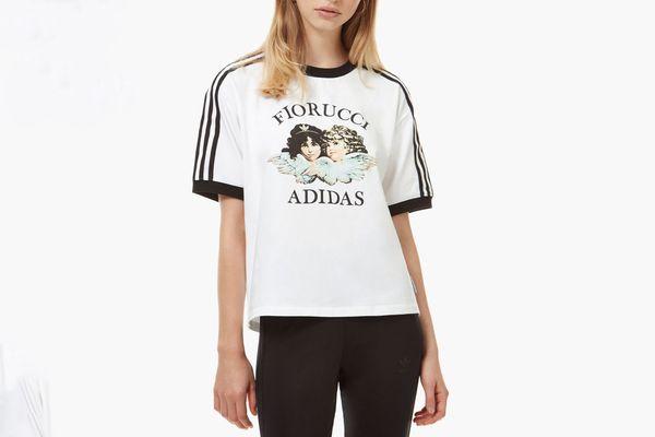 Adidas x Fiorucci Angel & Stripe T-Shirt White