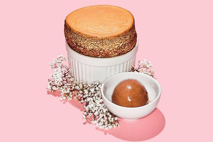 The Clocktower's pistachio soufflé.
