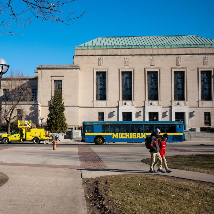 University of Michigan, which studies have shown has a high percentage of reported sexual assault.