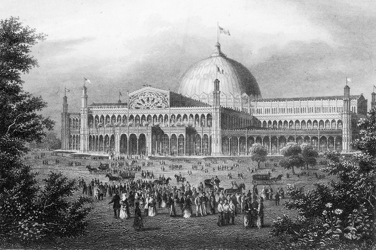 "<span class=""clay-designed kiln-phrase"">ca. 1853</span>Crystal Palace, built on today's Bryant Park."