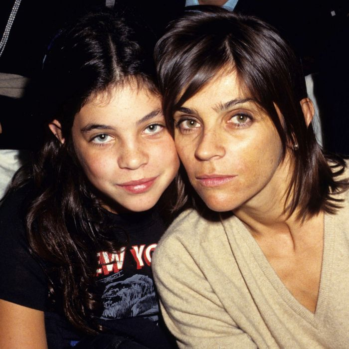 Carine Roitfeld and her daughter