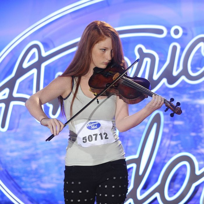AMERICAN IDOL: Amelia Eisenhauer performs in front of the Judges on AMERICAN IDOL airing Wednesday, Jan. 20 (8:00-9:00 PM ET/PT) on FOX. © 2016 Fox Broadcasting Co. Cr: Craig Blankenhorn / FOX.