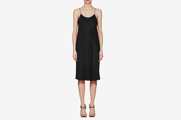 Helmut Lang Washed Twill Slip Dress