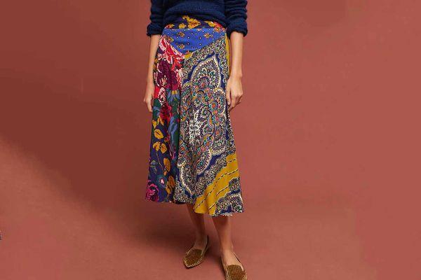 Anthropologie Printed Skirt