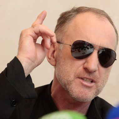 The father of the two Boston bombing suspects, Anzor Tsarnaev, speaks at a news conference in Makhachkala, the southern Russian province of Dagestan, Thursday, April 25, 2013. The father of the two Boston bombing suspects said Thursday that he is leaving Russia for the United States in the next day or two, but their mother said she was still thinking it over.