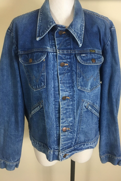 Vintage Wrangler Blue Denim Jean Trucker Jacket