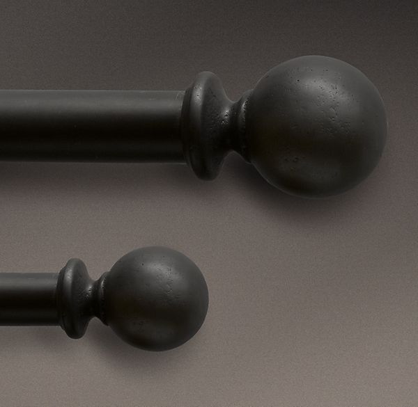 Dakota Ball Finials (Set of Two) — Soft Iron