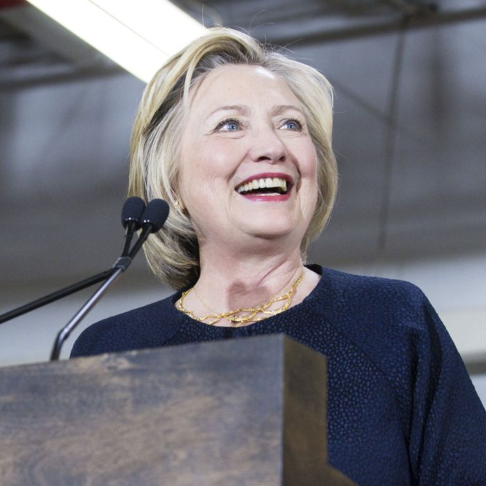 Democratic Presidential Candidate Hillary Clinton Campaigns In Cleveland, Ohio