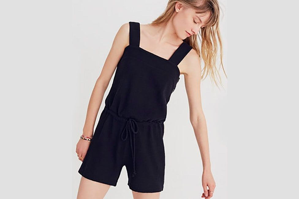 Madewell Side-Button Drawstring Romper